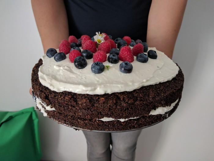 Kakaovo-kokosový bezlepkový dort
