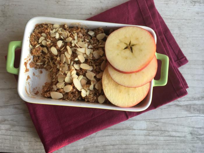Jablečný crumble zdravěji
