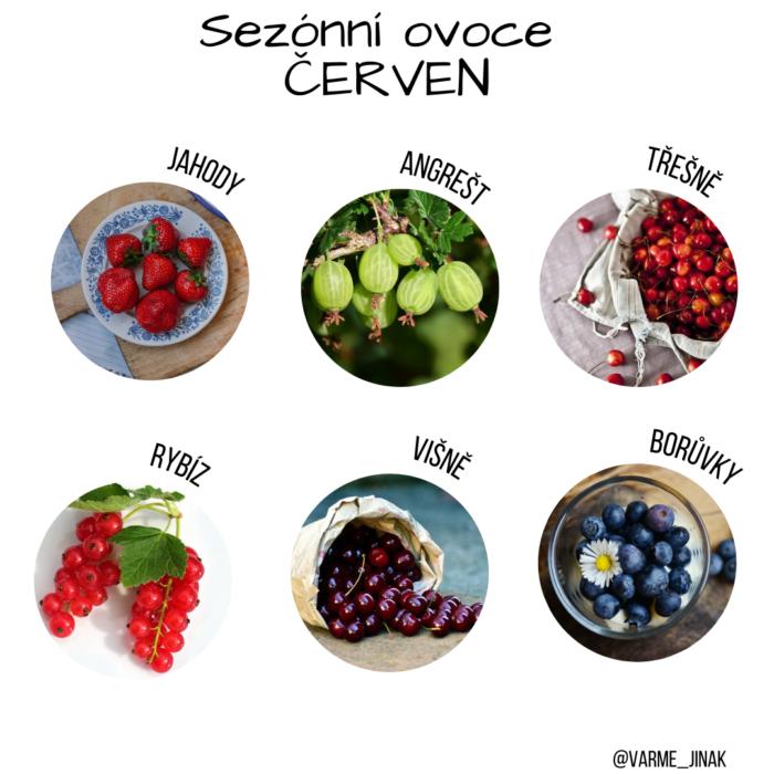 Sezónní ovoce červen