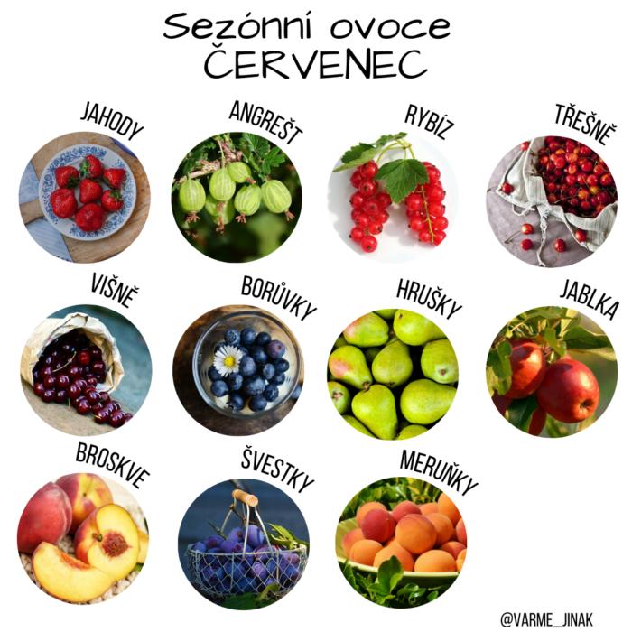Sezónní ovoce červenec