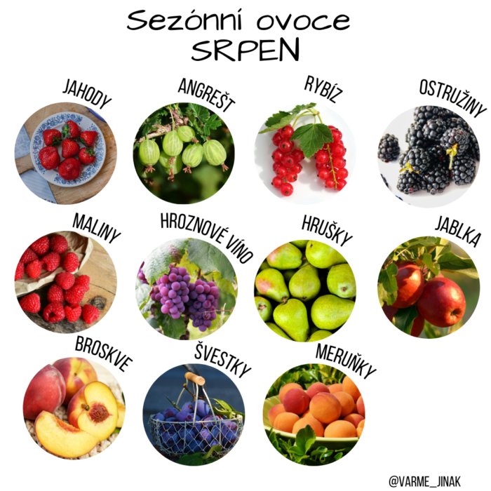 Sezónní ovoce v srpnu