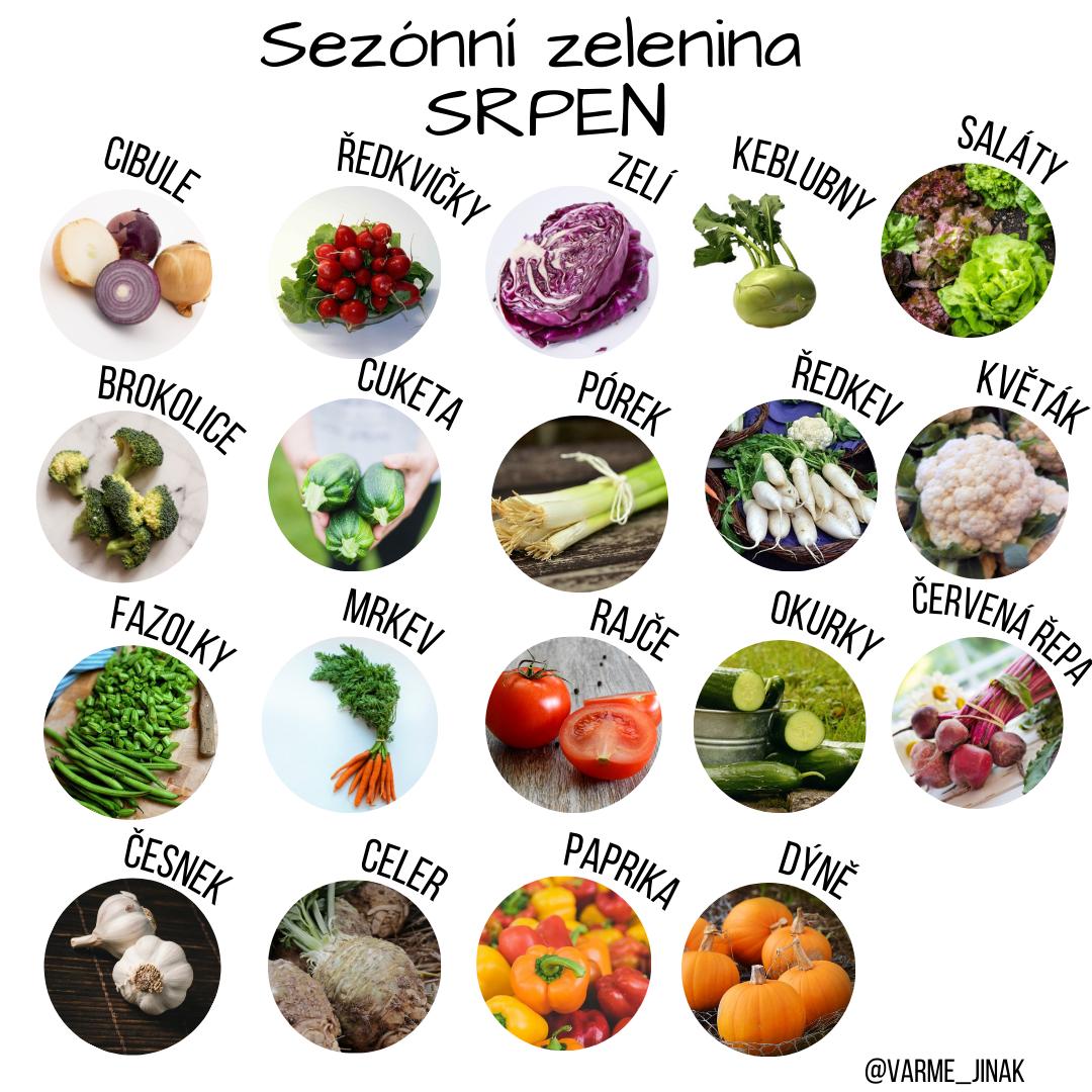 Sezónní zelenina v srpnu