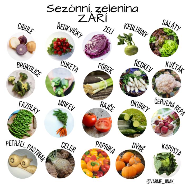 Sezónní zelenina v září